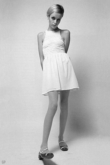 Twiggy in abito Mary Quant.