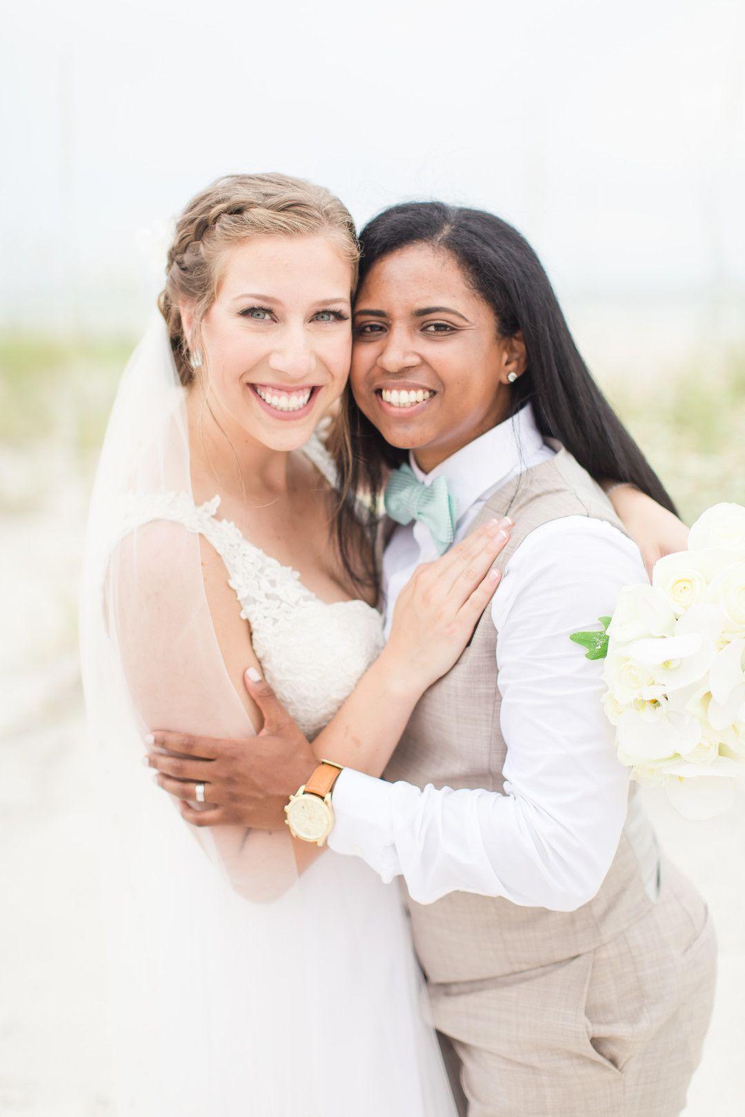 Tropical Blue And Green Beach Wedding In St Petersburg Florida Lesbian Wedding Wedding Gowns Vintage Wedding Film