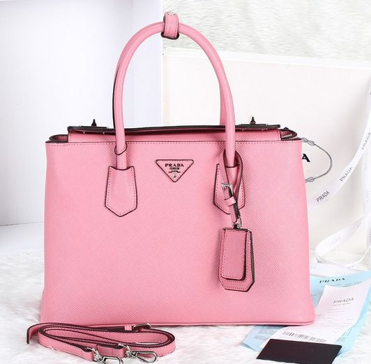 d104194f4dae2c 2014 Cheap Prada Twin Saffiano Cuir tote Pink,Prada bags 2014 on sale