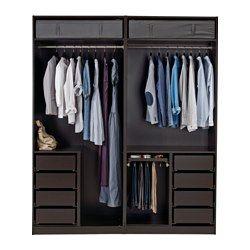 Ikea pax schrank ohne türen  PAX Kleiderschrank, schwarzbraun - 200x58x236 cm - IKEA, 394€ ohne ...