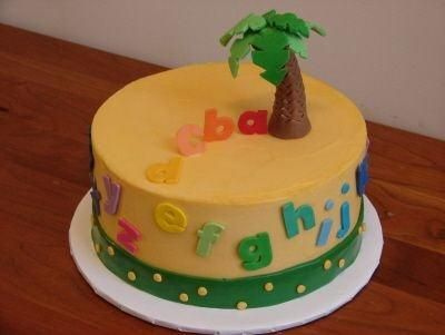 I like this idea not sure how to make the palm tree Also the cake