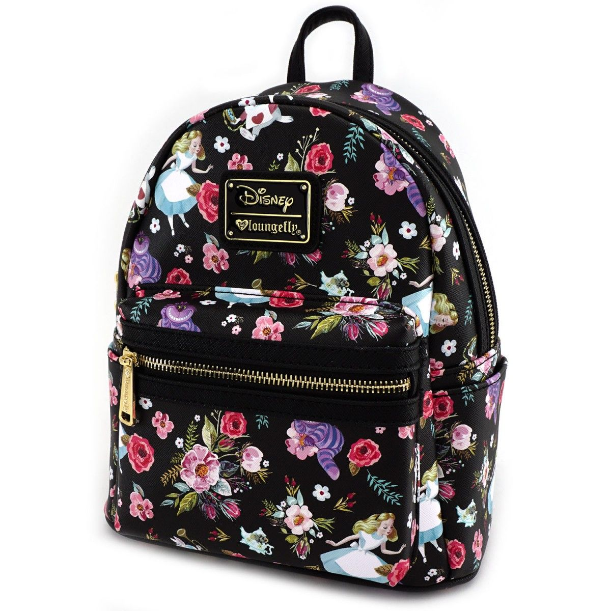 Loungefly X Alice Character Floral Print Saffiano Faux Leather Mini Tas Tumi Alpha 2 Hanging Travel Kit Backpack Disney Brands