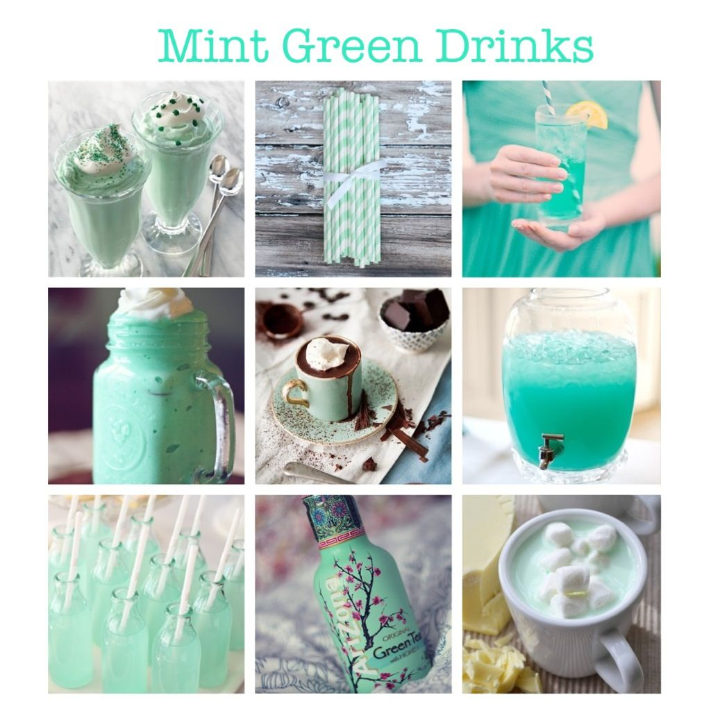 Mint Green Drinks For Mint Green Wedding. (smoothie