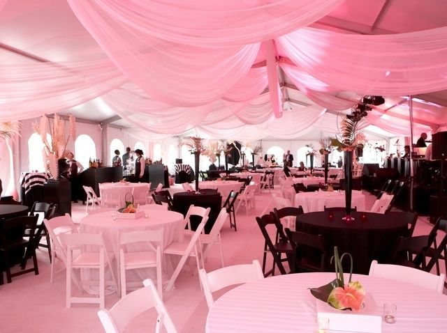 in pink second reception tent ceiling & Love the drapes and again with the color scheme u003c3 | The Day u003c3 ...