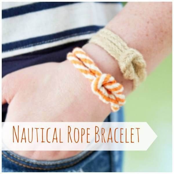 Nautical Rope Bracelet Tutorial