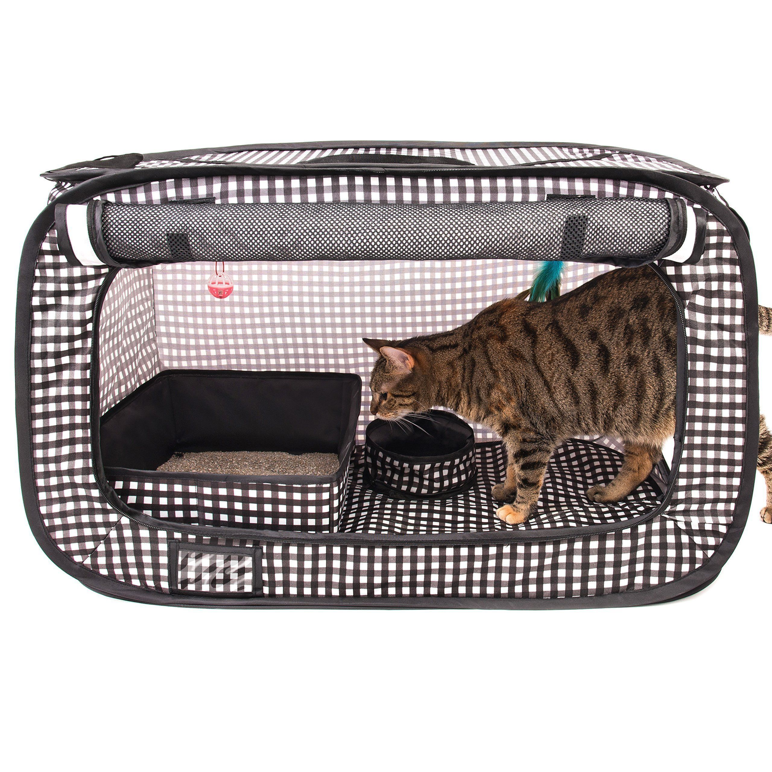Cheering Pet Portable Pop Up Cat Cage Pet Travel Crate