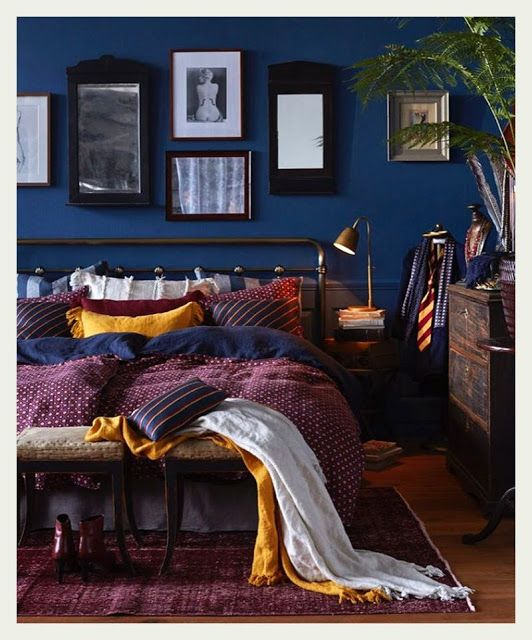 exceptional Purple And Blue Bedrooms Part - 13: Dream Bedroom, Home Bedroom, Bedroom Decor Dark, Dark