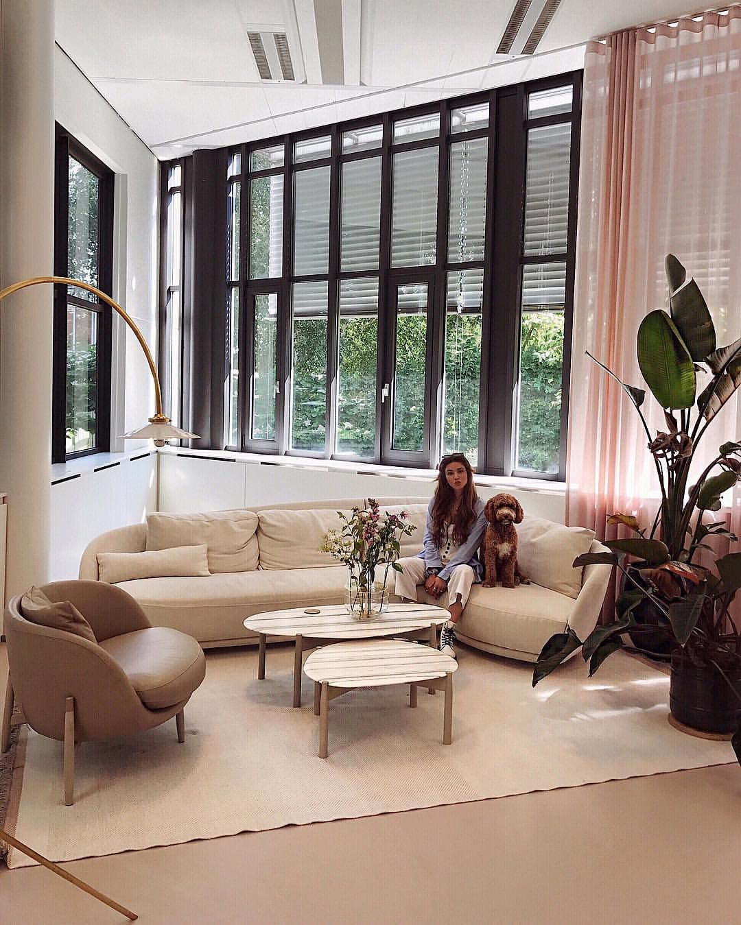 In Love With Our Lounge Corner At The Office Thank You Linteloo For The Amazing Sofa En Coffee Tables Office Decor Professional Minimalism Interior Best Sofa