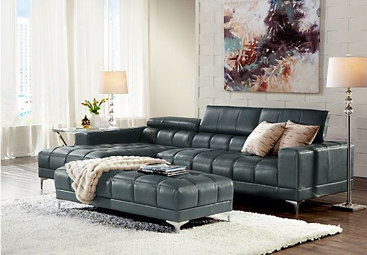 Incredible Sofia Vergara Sybella Blue 3 Pc Sectional Living Room In Spiritservingveterans Wood Chair Design Ideas Spiritservingveteransorg