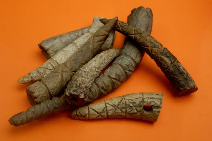 "Viking age / Viking artifacts, Carved antler tips Excavation at Jorvik (York), England Jorvik (York) was captured by a Viking army in 866 The name Jorvik means ""Wild Boar Creek"""