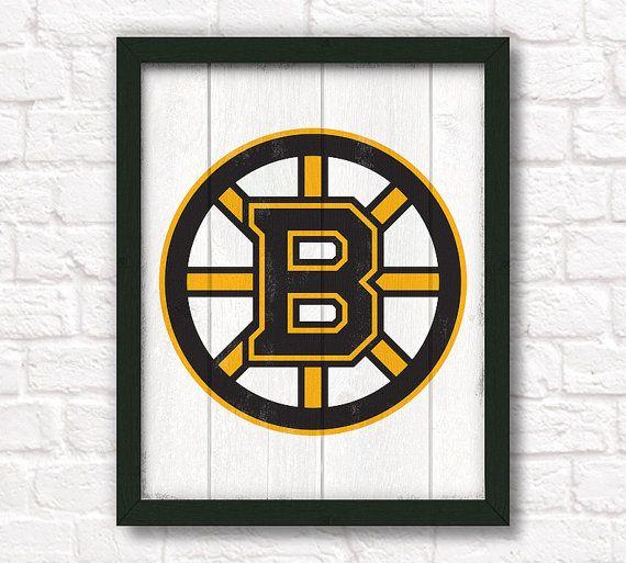 Home Decor Boston: Boston Bruins Rustic Home Decor 16x20 By ThePaintedLlama