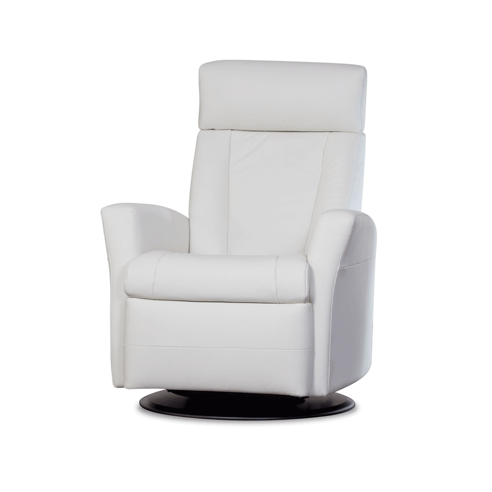 Contemporary modern Furniture  Chairs Belvedere Recliner - Snow White from Urban Barn to complement your style. Find this Pin and more ...  sc 1 st  Pinterest & Urban Barn Belvedere Leather Swivel Recliner White | CeCe ... islam-shia.org