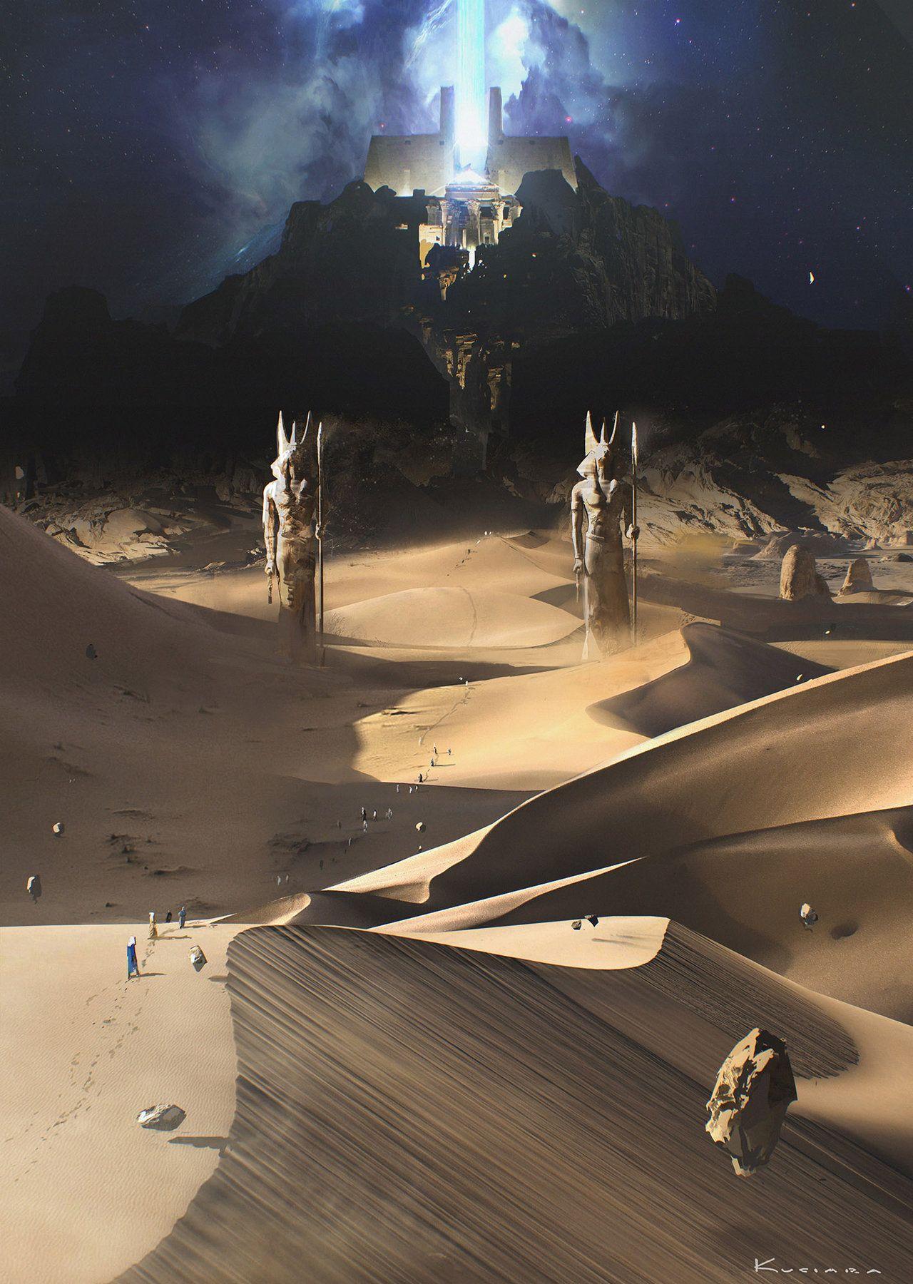 "vividvisualizations: "" ""God of Egypt - Land of the Dead by Maciej Kuciara"" via…"