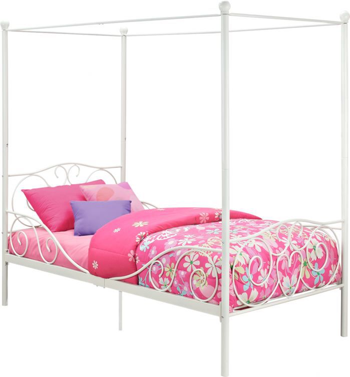 Twin Canopy Bed | For Sammy | Pinterest