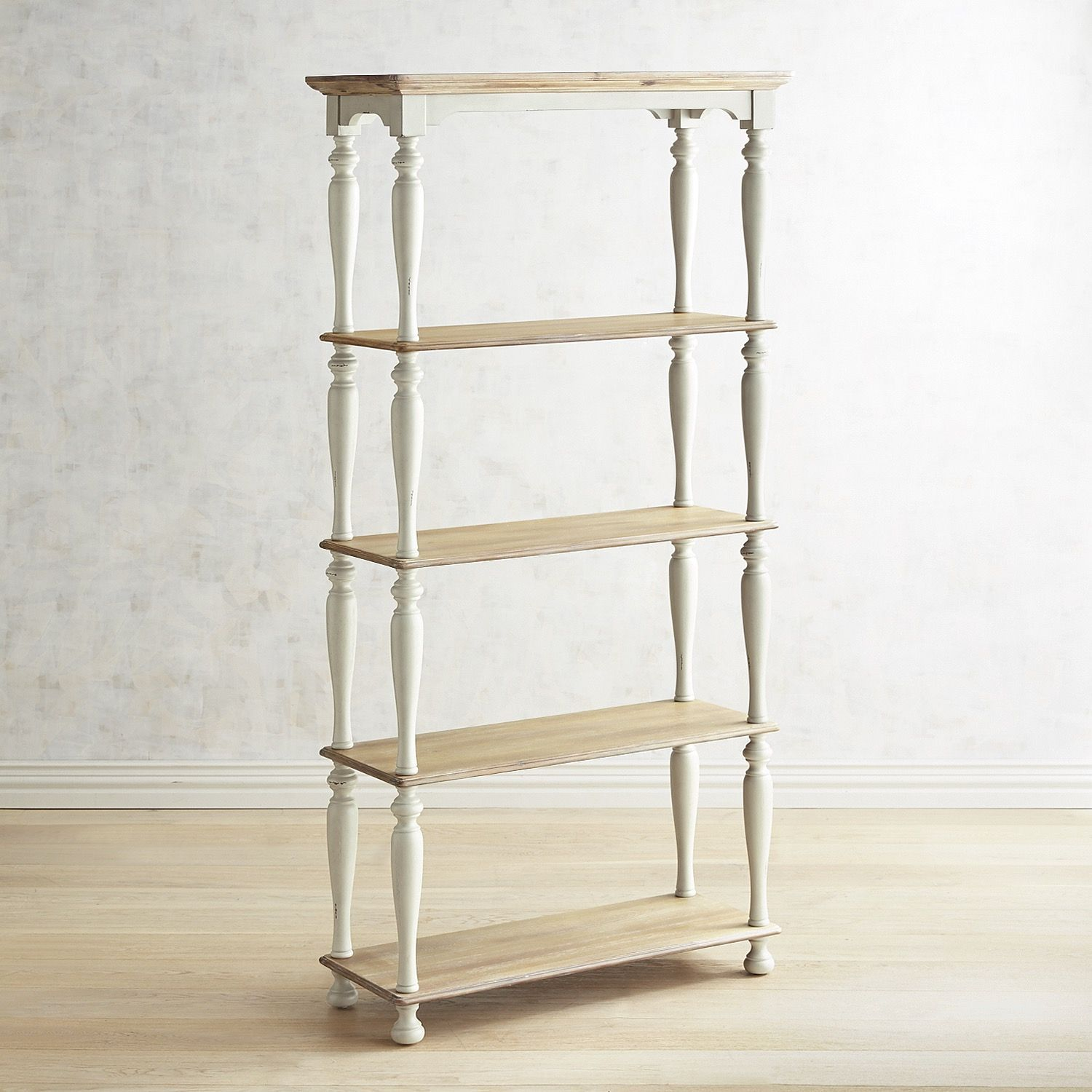 Amelia Natural Stonewash Tall Shelf