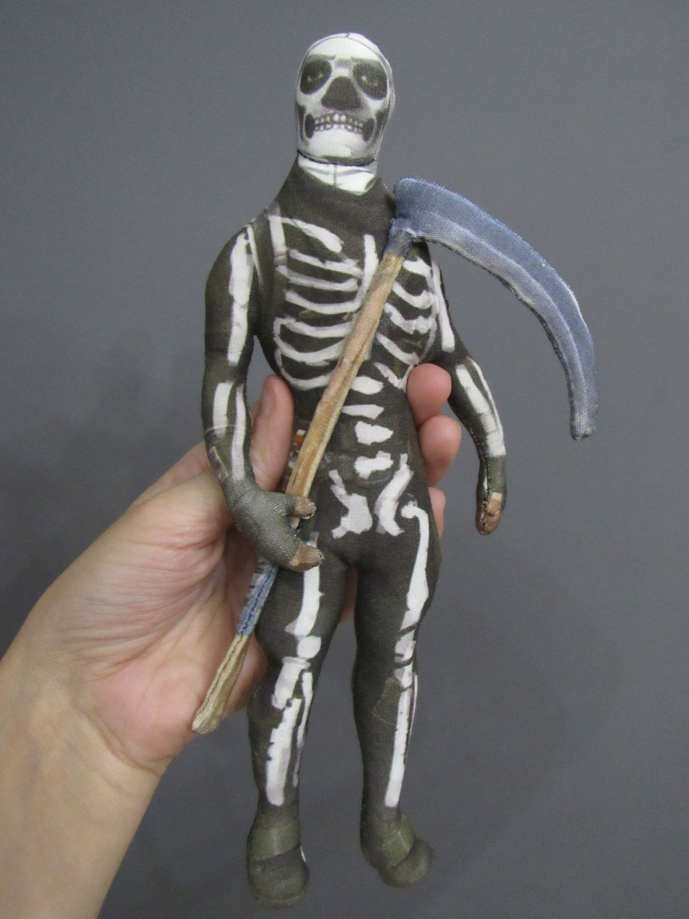 Skull trooper with the pickaxe soft toy of Fortnite Battle
