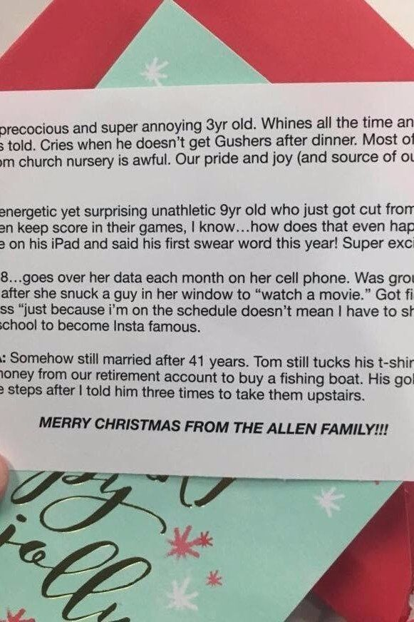 This Brutally Honest Christmas Card Is the Only  - christmas card word
