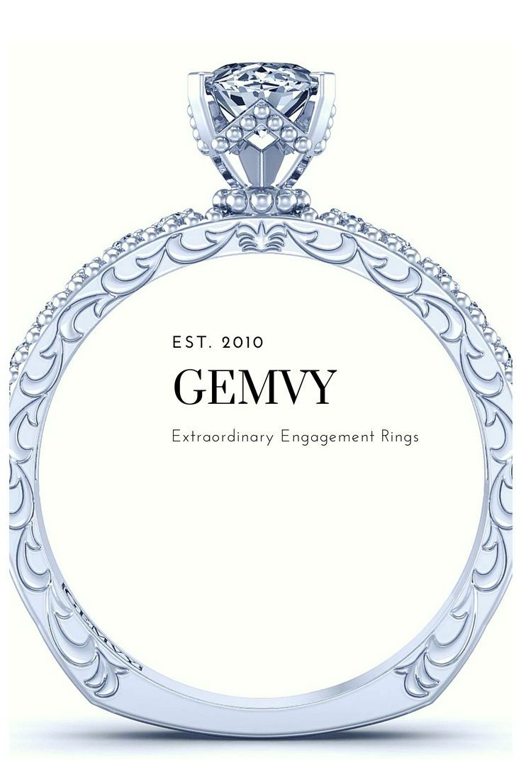 Oval pave diamond engagement ring genvy pinterest
