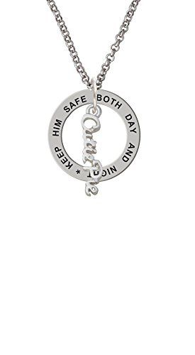 Small Cutie Pie Script  Keep Him Safe Affirmation Ring Necklace >>> Click image for more details.