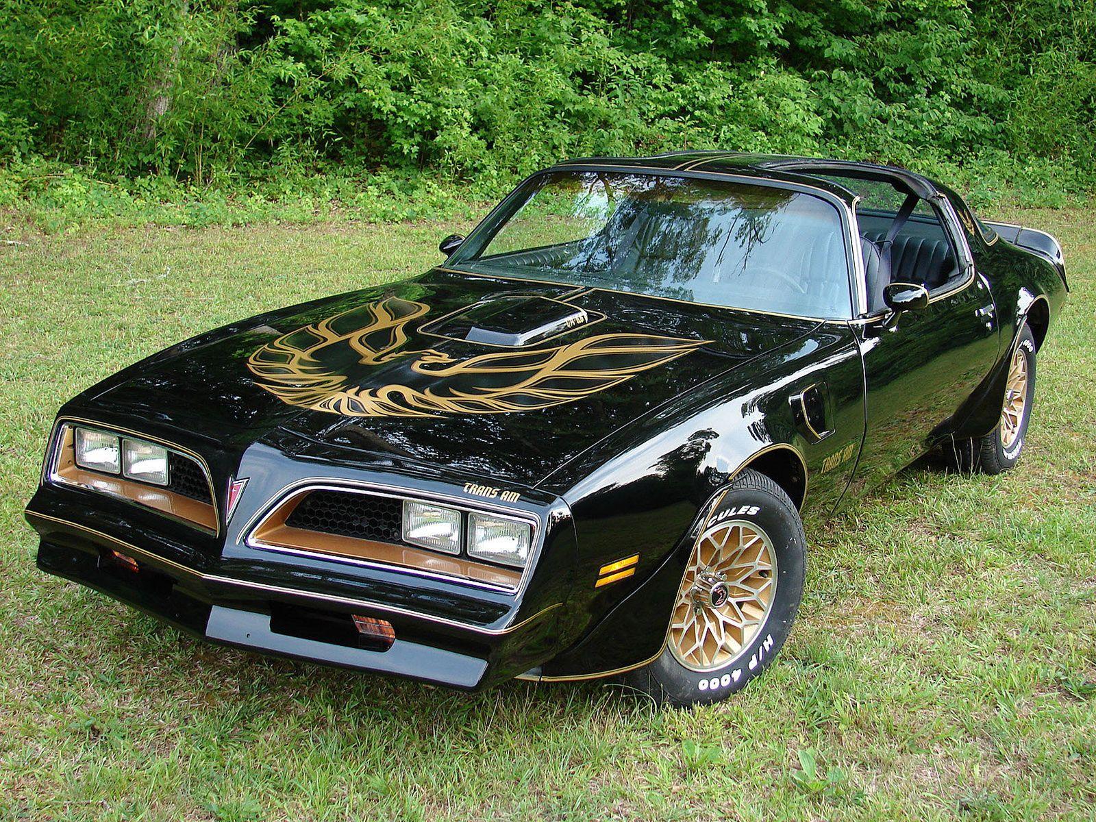 1978 Pontiac Trans Am Black and Gold Ttops Firebird car