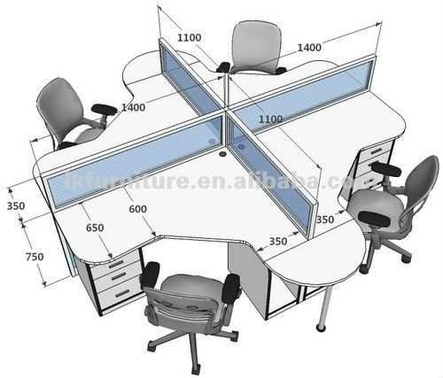 Standard size for office table