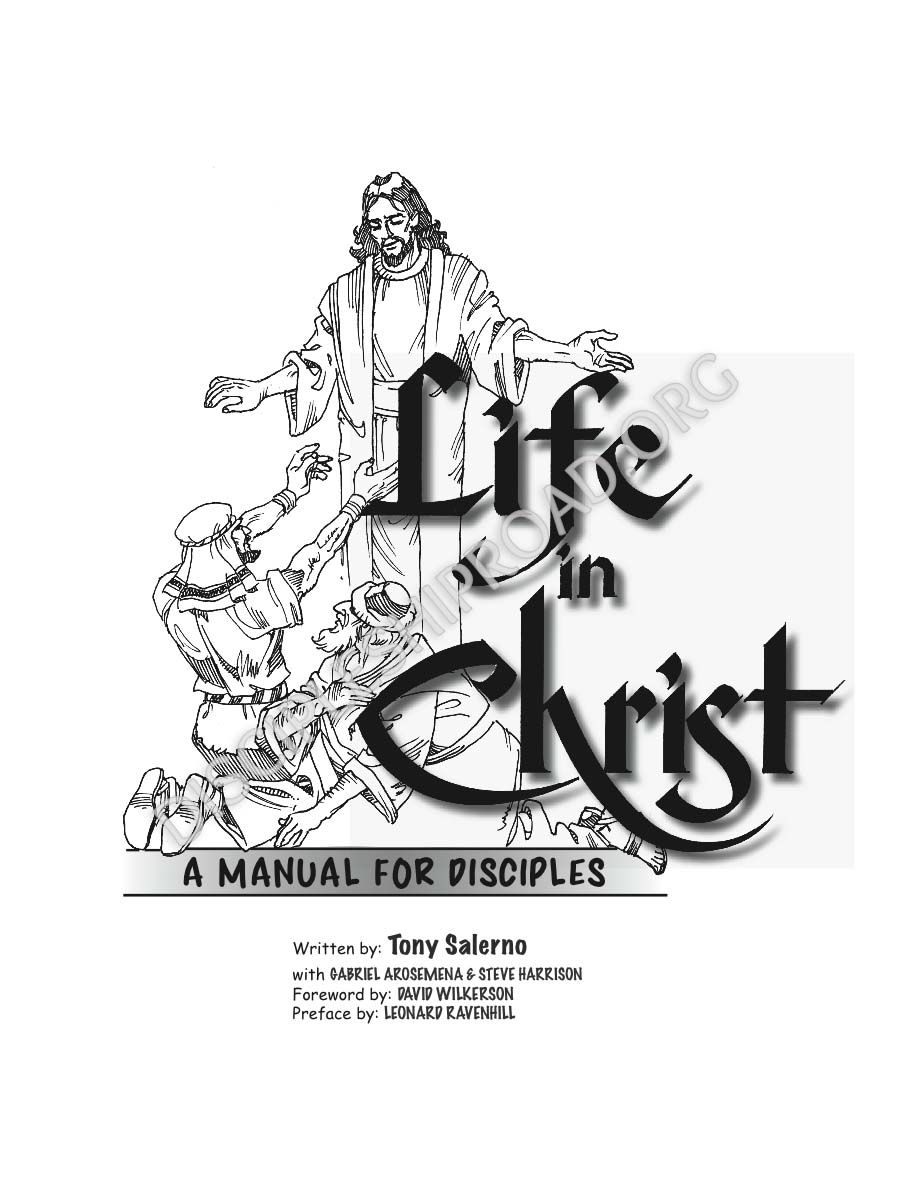 Life In Christ: A Manual for Disciples Sample Pages Order