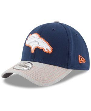 New Era Denver Broncos Heather 39THIRTY Cap - Gray L/XL