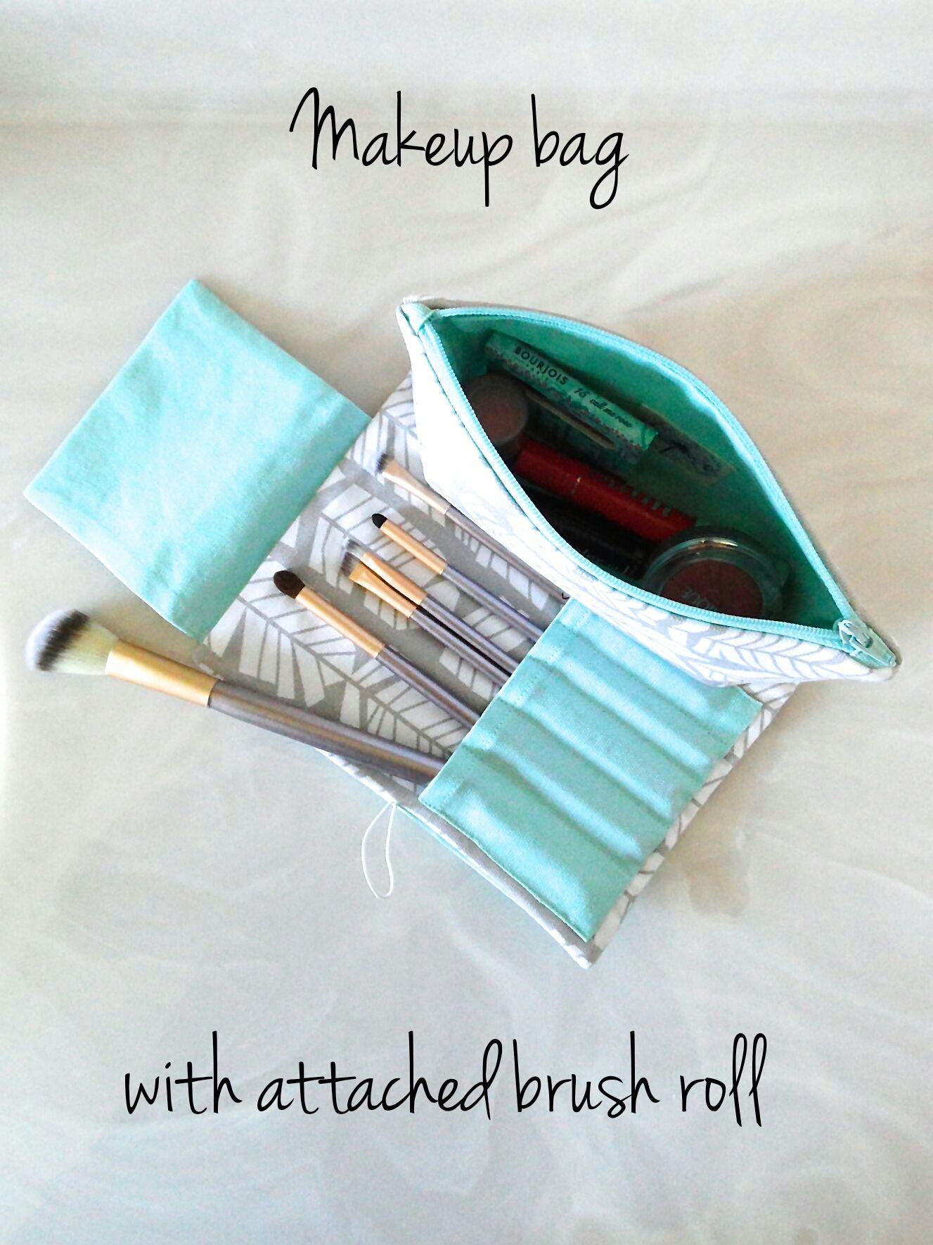 Makeup bag with attached brush roll Klaim U Makeup