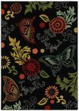 Shaw Kathy Ireland Home Young Attitudes Butterfly Fantasy Black Rug Item #: 137YA08500-P Your Price (Price Match): $69 - $139 + FREE SHIPPING Rating: Read Reviews   Write Review Material :100% Nylon