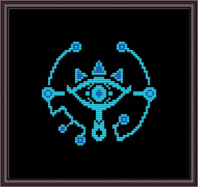 Photo of Legend of Zelda – Sheikah Eye – Cross Stitch Pattern PDF Instant Download