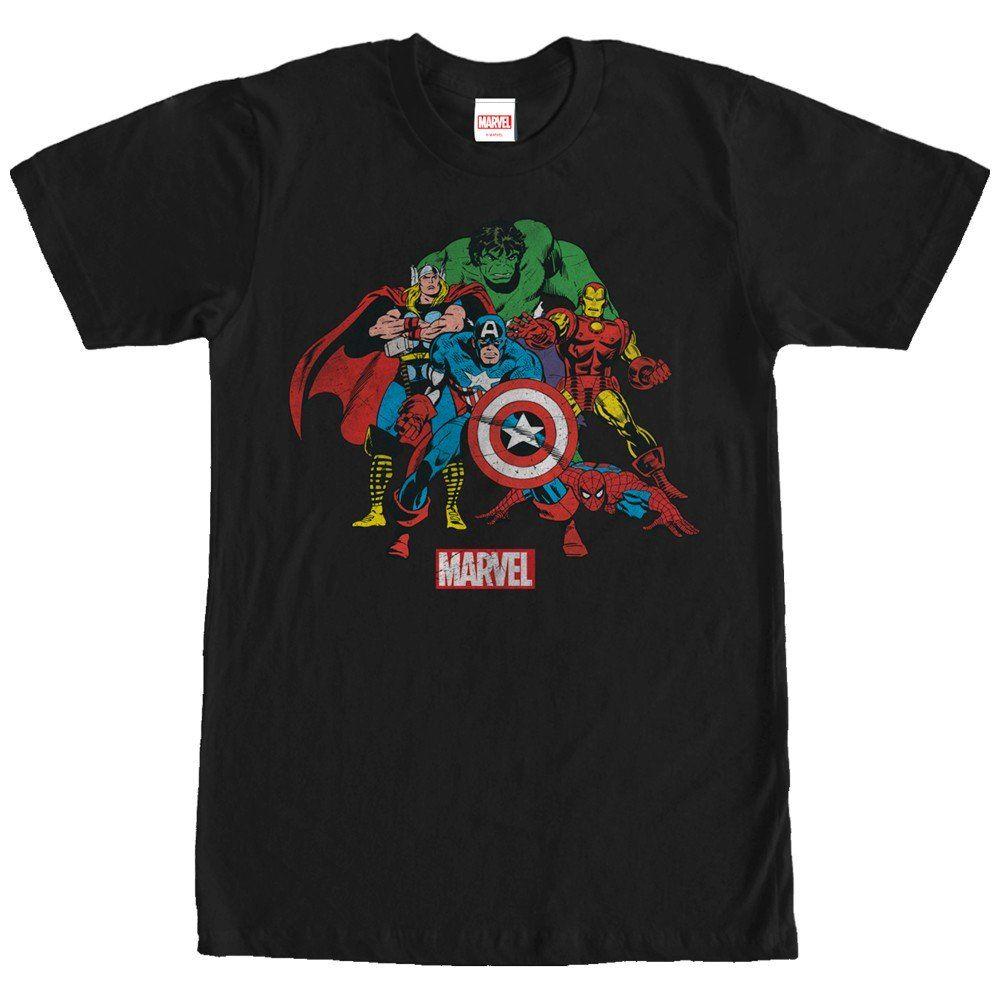 Avengers Maglietta a Maniche Corta per Uomo Marvel