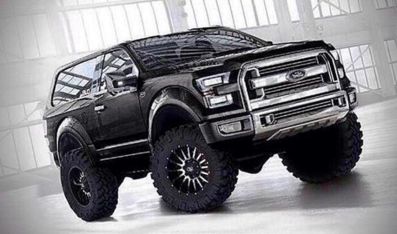 2016 Ford Bronco Concept Black Now That Is One Bad Ass Truck Not 2015 Interior New Svt Said To Be Released In With Changes Exterior Engine Performance And Price Same