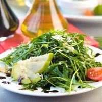Pear and Arugula Salad with Pomegranate Vinaigrette recipes at Sur La Table