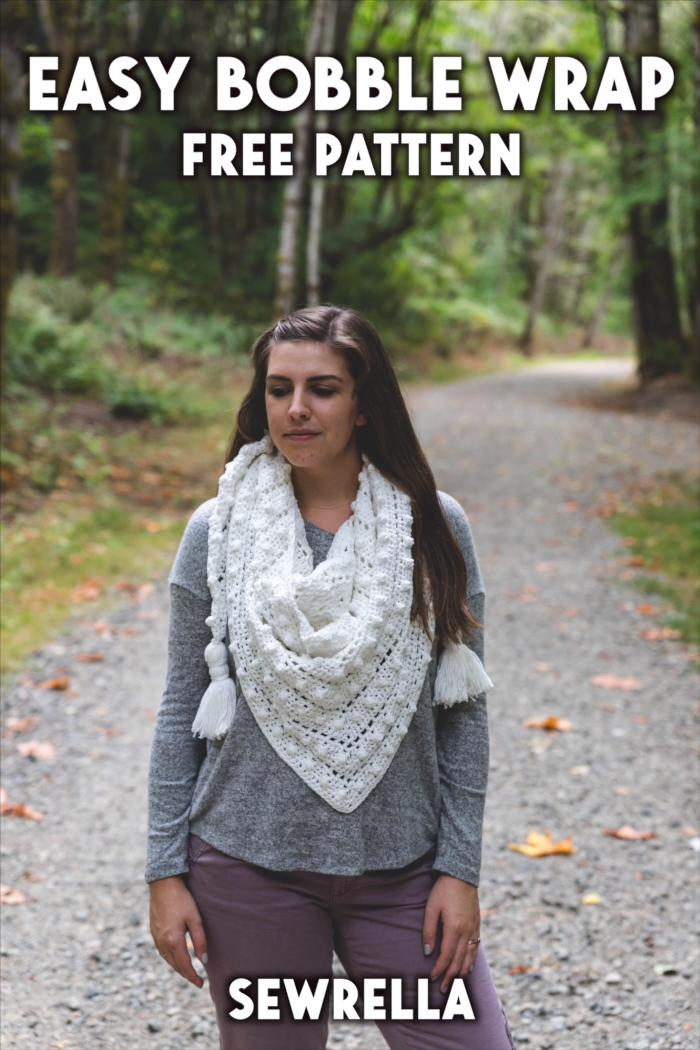 Photo of Easy Crochet Bobble Wrap – free pattern