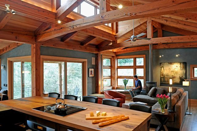 Kitchen Design Vt vermont street project | reclaimed douglas fir industrial timbers