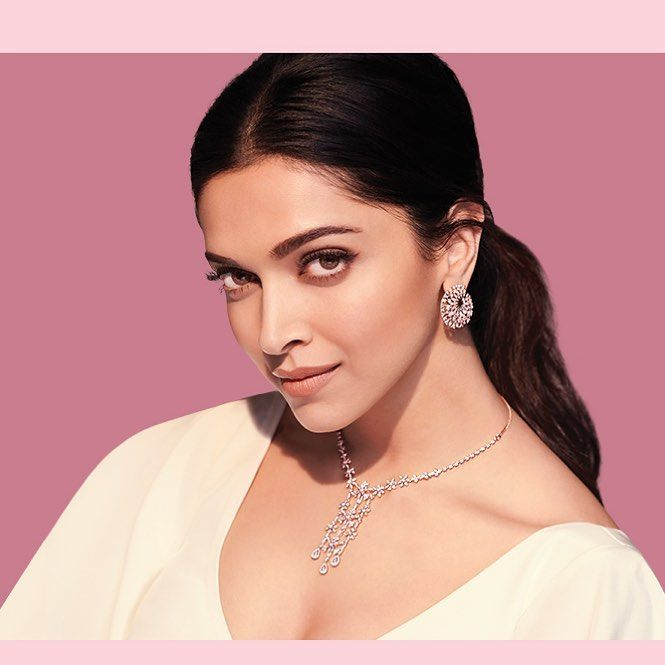 Hair and makeup for Deepika with Tanishq, styling by ...