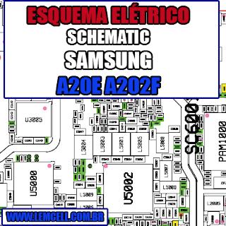 Esquema Elétrico Manual de Serviço Samsung Galaxy A20e A202F Celular Smartphone - Schematic Service Manual