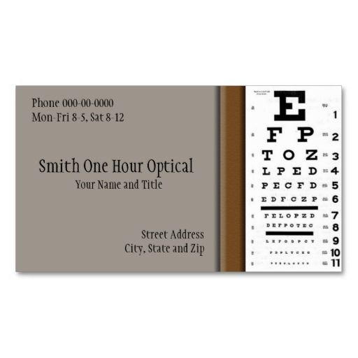 Optometrists Business Card Eye Doctor Business Card Templates - business card template for doctors