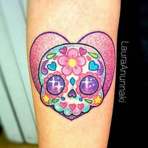 tatuaje kawaii para halloween coraz n con calavera mexicana catrina tattoo heart with. Black Bedroom Furniture Sets. Home Design Ideas