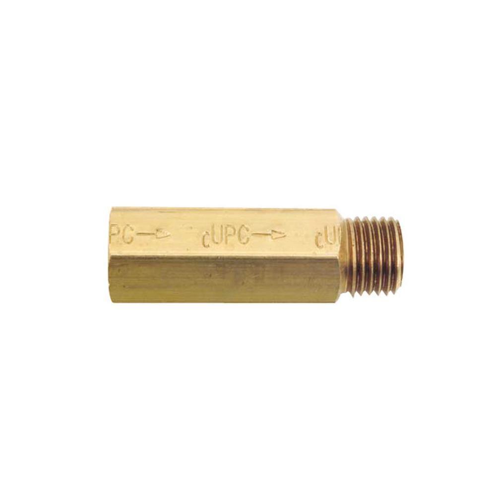 Belvedere In Line Backflow Preventer For Shampoo Sink In Brass