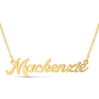 afeb97cfd62a5 Mackenzie Nameplate Necklace In Gold | Places to Visit | Nameplate ...