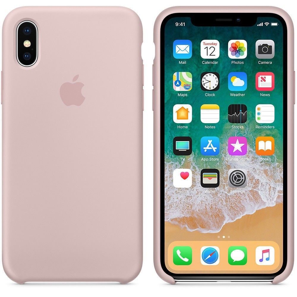 GENUINA ORIGINAL SILICONA Funda carcasa para Apple iPhone X XR XS