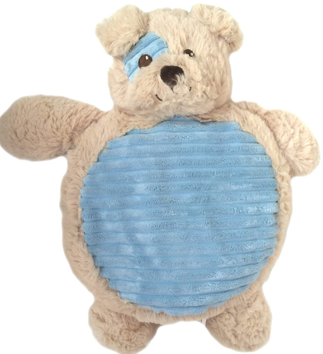 Wags And Purrs 13 Inch Crinkle Belly Plush Dog Toy With Squeaker