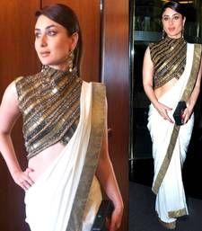 088669c6c Buy Off white colored designer party wear sizzling georgette saree by  kareena kapoor kareena-kapoor-saree online