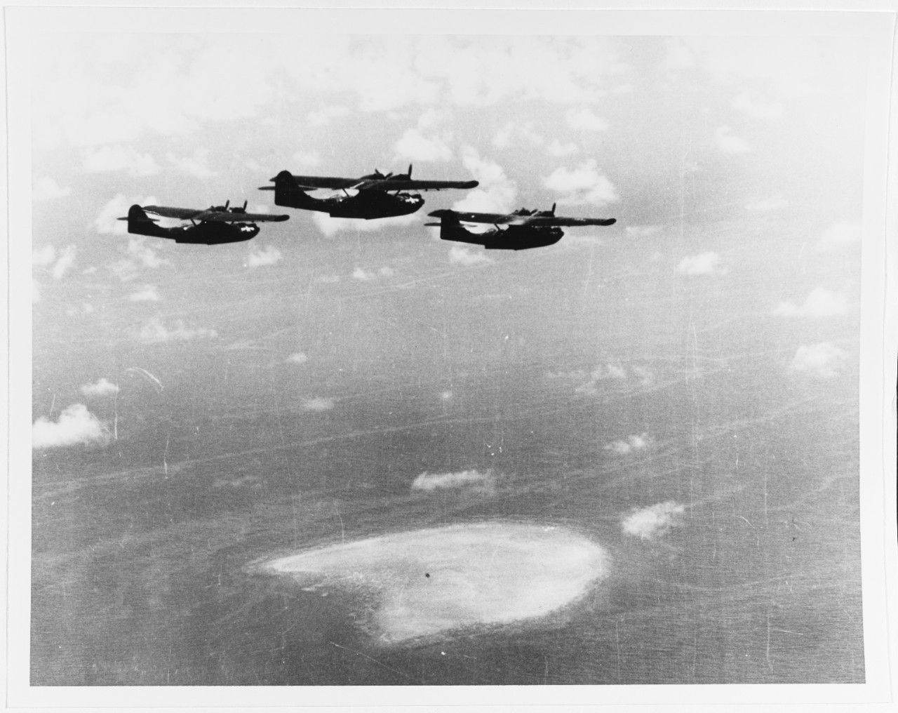 "usaacofficial ""PBY5s of VP52 in flight, 10 February"