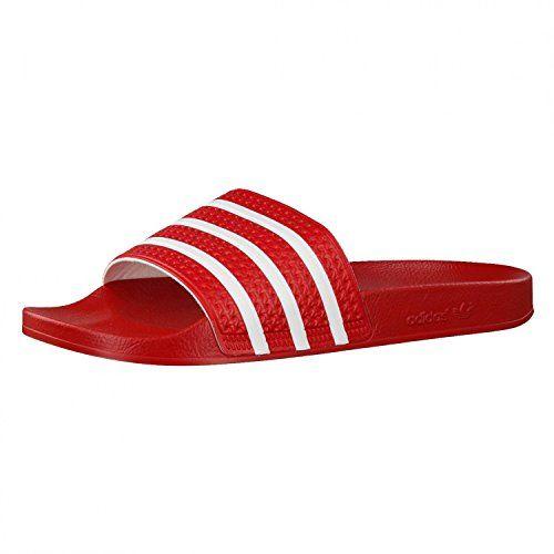 Adidas Adilette, Unisex-Erwachsene Badeschuhe, Rot (Light Scarlet/white/light Scarlet), 48 2/3 EU