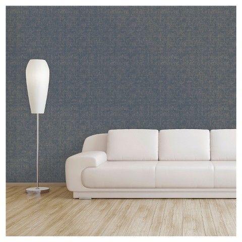 Devine Color L And Stick Wallpaper Weaver Pattern Comp Blue Gold Metallic