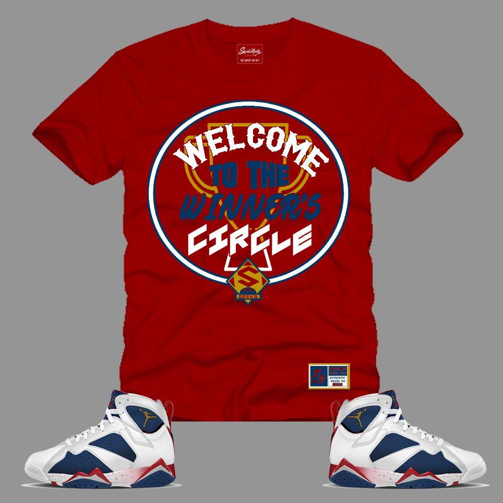 1eb98c34009359 Winner s Circle T-Shirt in Red to match Jordan 7 Tinker Alternate ...