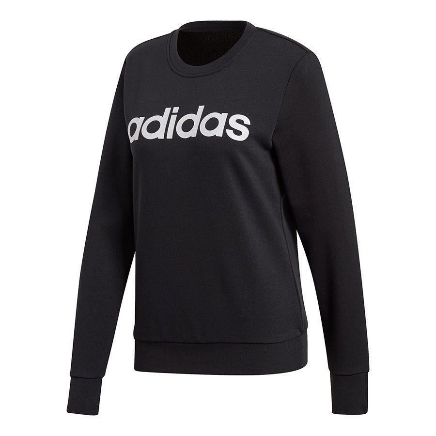 Adidas Essentials Linear Crewneck Sweatshirt Women Deporvillage Crewneck Sweatshirt Women Women Hoodies Sweatshirts Adidas Women [ 900 x 900 Pixel ]
