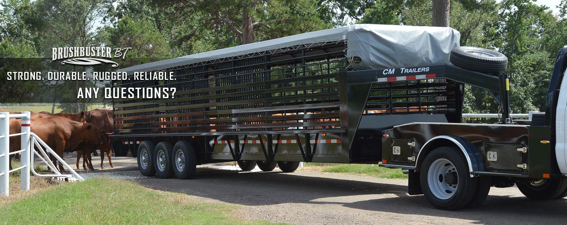 Cm trailers all aluminum steel horse livestock